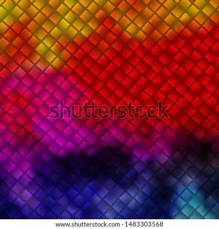 Light Multicolor vector background in polygonal style. Illustration with a set of gradient rectangles. Pattern for commercials, ads.