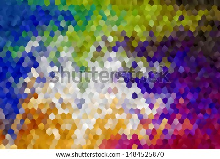 Light Multicolor vector background with hexagons. Colorful hexagons on blur backdrop. Design for your business advert.