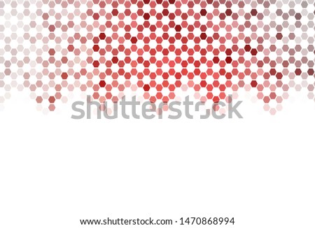 Light Multicolor vector background with set of hexagons. Colorful hexagons on blur backdrop. Design for website posters, banners.
