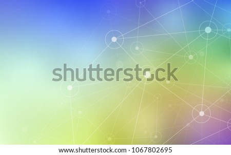 Light Multicolor vector layout with circles, lines. Abstract illustration with colorful discs and triangles. Pattern can be used as texture of wallpapers.