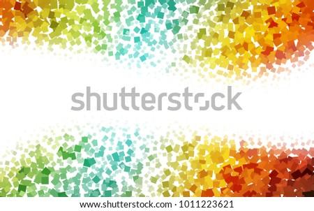 light multicolor vector polygon