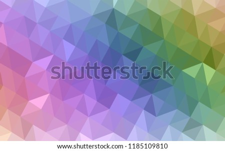 Light Multicolor vector polygonal template. Elegant bright polygonal illustration with gradient. Triangular pattern for your design.