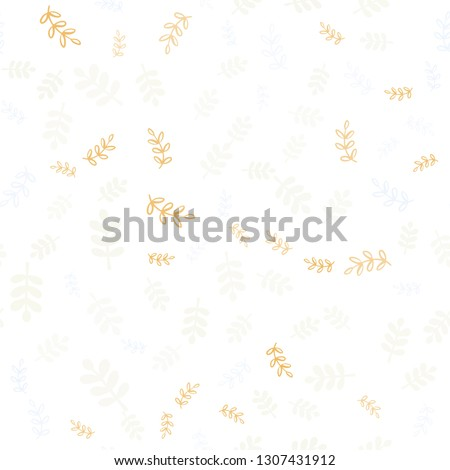 Light Multicolor vector seamless doodle pattern with leaves, branches. Illustration with doodles on abstract template. Template for business cards, websites.