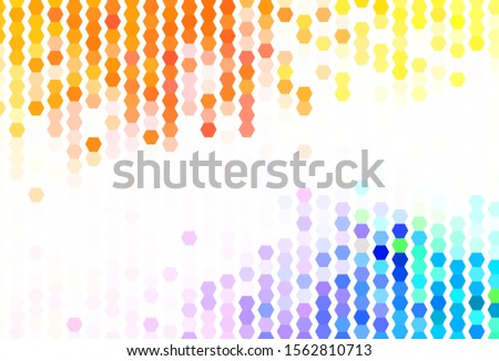 Light Multicolor vector texture with colorful hexagons. Colorful hexagons on blur backdrop. New template for your brand book.