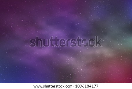 Light Multicolor vector texture with milky way stars. Space stars on blurred abstract background with gradient. Pattern for astrology websites. #1096184177