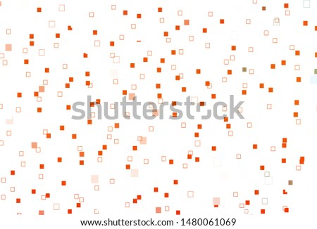 Light Orange vector backdrop with lines, rectangles. Rectangles on abstract background with colorful gradient. Smart design for your business advert.