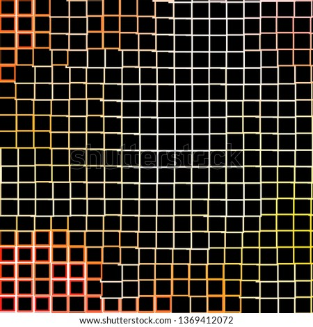 Light Orange vector backdrop with rectangles. Rectangles with colorful gradient on abstract background. Pattern for commercials, ads.
