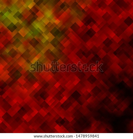 Light Orange vector background in polygonal style. Colorful illustration with gradient rectangles and squares. Pattern for commercials, ads.