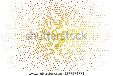 Light Orange vector background with rectangles. Rectangles on abstract background with colorful gradient. Pattern for busines ad, booklets, leaflets