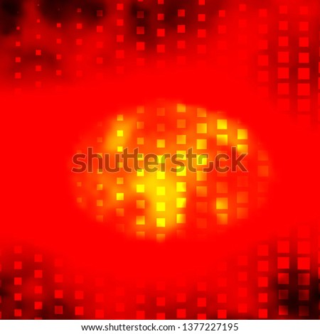 Light Orange vector background with rectangles. Rectangles with colorful gradient on abstract background. Design for your business promotion.