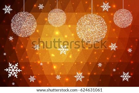 light orange vector christmas