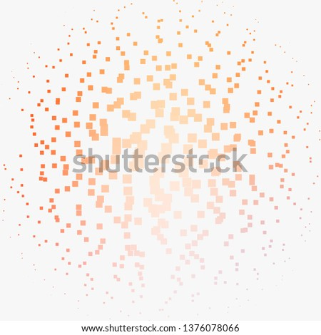 Light Orange vector layout with lines, rectangles. Rectangles with colorful gradient on abstract background. Template for cellphones.