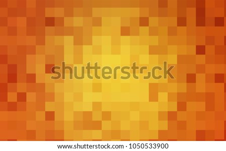 Light Orange vector pattern. Brand-new rectangular template. Shining geometric sample. Repeating theme with rectangular shapes. Texture for your design.