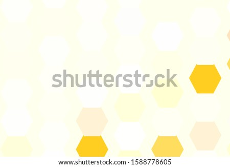 Light Orange vector pattern with colorful hexagons. Colorful hexagons on blur backdrop. Pattern for landing pages.