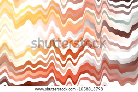 Light Orange vector pattern with lava shapes. Shining illustration, which consist of blurred lines, circles. A completely new marble design for your business.