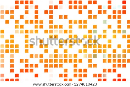 Light Orange vector template with crystals, rectangles. Rectangles on abstract background with colorful gradient. Best design for your ad, poster, banner.