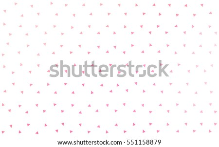 Light Pink abstract colorful vector background, which consist of triangles. Pattern with colored triangles on white background. #551158879