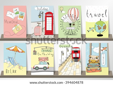 stock-vector-light-pink-blue-green-collection-for-banners-flyers-placards-with-balloon-world-traveling-on