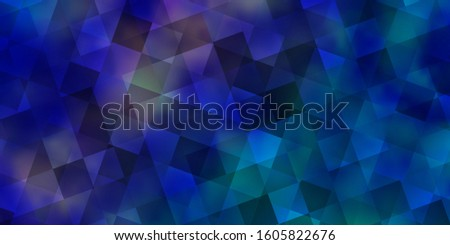 Light Pink, Blue vector backdrop with lines, rhombus. Lines, rhombus with colorful gradient. Pattern for commercials.
