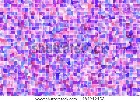Light Pink, Blue vector layout with lines, rectangles. Rectangles on abstract background with colorful gradient. Smart design for your business advert.