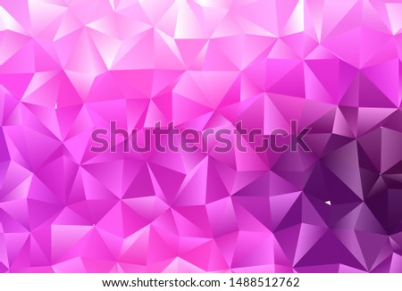 Light Pink, Blue vector shining triangular background. Shining colored illustration in a Brand new style. Polygonal design for your web site.
