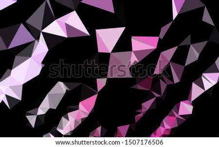 Light Pink, Blue vector shining triangular background. Shining illustration, which consist of triangles. New texture for your design.
