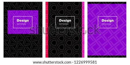 Light Pink, Blue vector style guide for notepads. Glitter abstract design concept with text box. Design for cover of books, notepads.