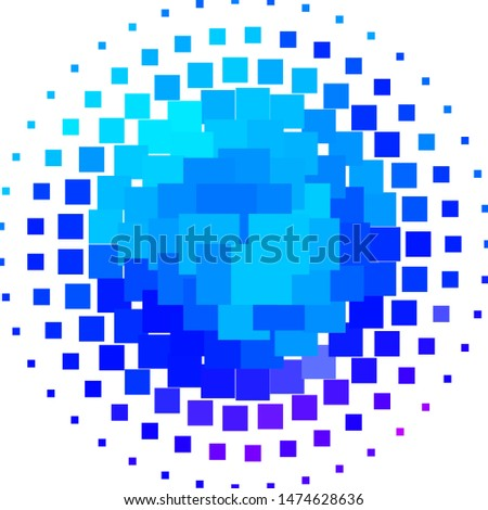 Light Pink, Blue vector texture in rectangular style. Illustration with a set of gradient rectangles. Pattern for commercials, ads.