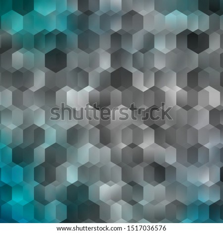 Light Pink, Blue vector texture with colorful hexagons. Colorful hexagons on blur backdrop. Pattern for ads, leaflets.