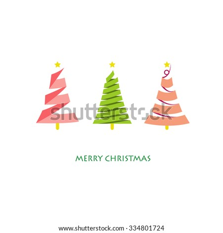 light pink green christmas tree