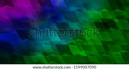 Light Pink, Green vector background with set of hexagons. Colorful hexagons on blur backdrop. Pattern for ads, leaflets.