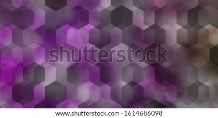 Light Pink, Green vector pattern with colorful hexagons. Colorful hexagons on blur backdrop. Pattern for landing pages.
