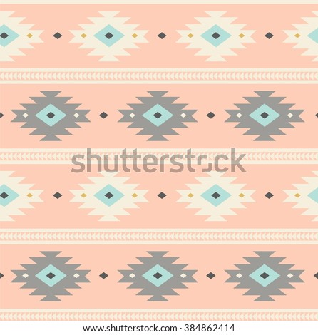 light pink Navajo Ethnic seamless pattern. aztec abstract geometric print. hipster backdrop. Tribal background texture. Wallpaper, cloth design, fabric, paper, wrapping, postcards. hand drawn.