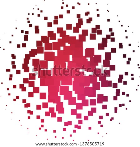 Light Pink, Red vector layout with lines, rectangles. Rectangles with colorful gradient on abstract background. Pattern for commercials, ads.