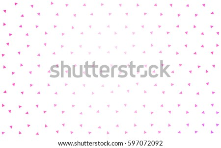 Light Pink vector abstract colorful background, which consist of triangles. Pattern with colored triangles on white background. #597072092