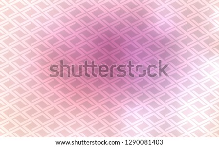 Light Pink vector backdrop with rectangles, squares. Rectangles on abstract background with colorful gradient. Pattern for busines ad, booklets, leaflets