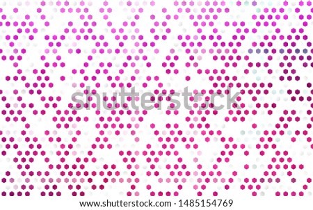 Light Pink vector cover with set of hexagons. Colorful hexagons on white backdrop. New template for your brand book.