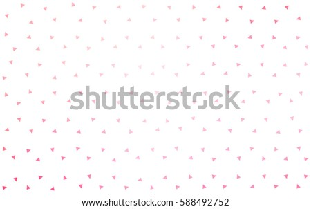 Light Pink vector geometric simple minimalistic background, which consist of triangles on white background. Triangular pattern with gradient for your business design.  #588492752