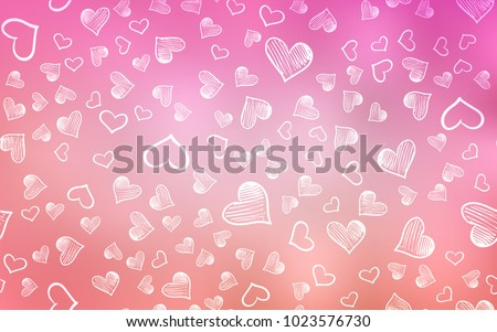 Light Pink vector layout with sweet hearts. Illustration with hearts in love concept for valentine's day. Beautiful design for your business advert of anniversary.