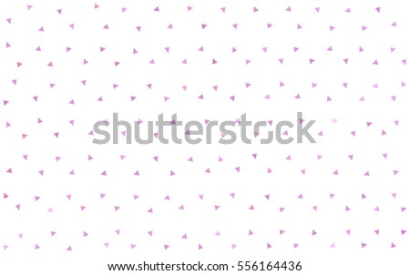 Light Pink vector of small triangles on white background. Illustration of abstract texture of triangles. Pattern design for banner, poster, cover. #556164436