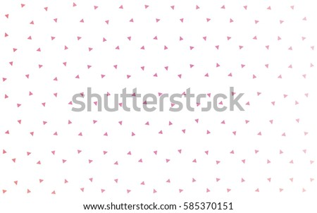 Light Pink vector of small triangles on white background. Illustration of abstract texture of triangles. Pattern design for banner, poster, cover. #585370151