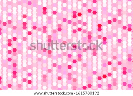 Light Pink vector pattern with colorful hexagons. Colorful hexagons on blur backdrop. Design for your business advert.