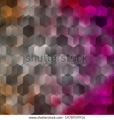 Light Pink vector pattern with colorful hexagons. Colorful hexagons on blur backdrop. New template for your brand book.