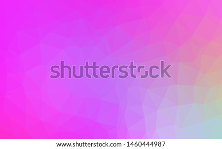 Light Pink vector polygon abstract backdrop. A sample with polygonal shapes. Polygonal design for your web site.
