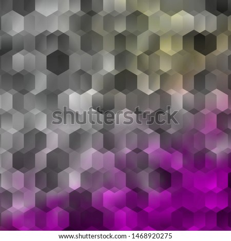 Light Pink, Yellow vector background with hexagons. Colorful hexagons on blur backdrop. Design for website posters, banners.