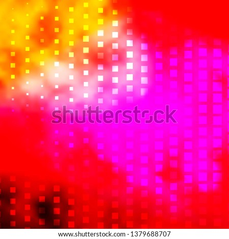 Light Pink, Yellow vector background with rectangles. Rectangles with colorful gradient on abstract background. Template for cellphones.