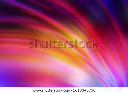 Light Pink, Yellow vector blurred shine abstract texture. Shining colored illustration in smart style. New style for your business design.