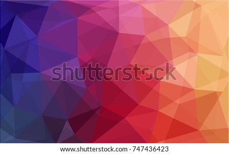 Light Pink, Yellow vector blurry triangle background design. Geometric background in Origami style with gradient.