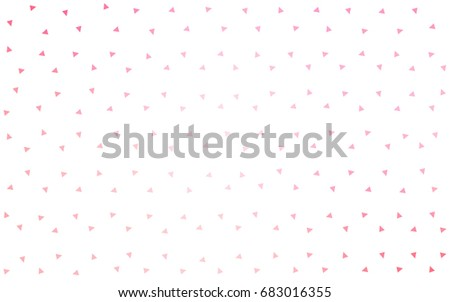 Light Pink, Yellow vector geometric simple minimalistic background, which consist of triangles on white background. Triangular pattern with gradient for your business design.  #683016355