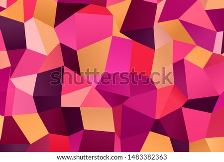 Light Pink, Yellow vector layout with lines, rectangles. Rectangles on abstract background with colorful gradient. Modern template for your landing page.